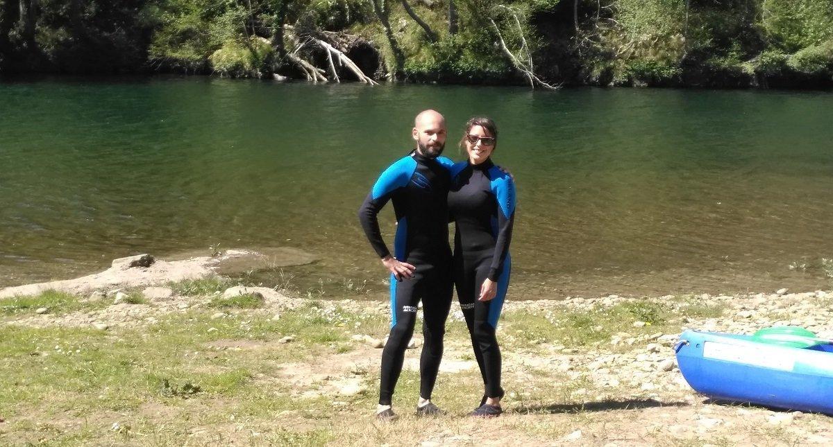 En pareja por las aguas de sella