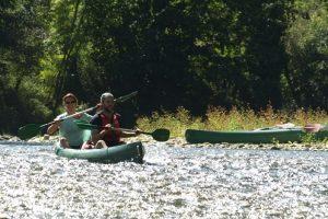 Descent in canoe down the River Sella with Montañas del Norte
